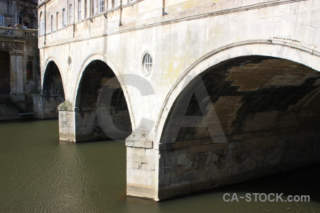 White archway building bridge.