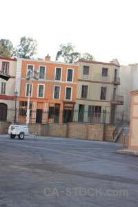 White building street.