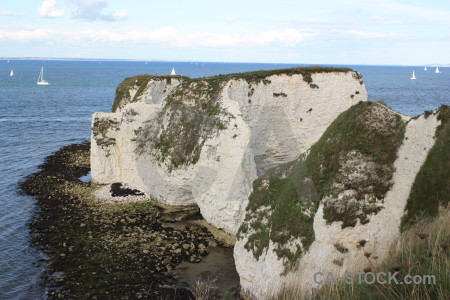 White cliff rock.