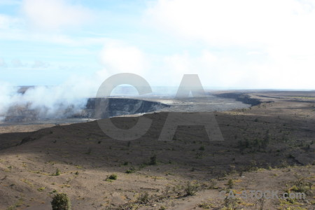 White crater volcanic.