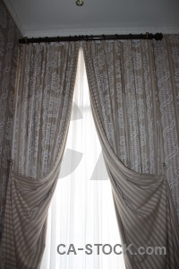 White curtain object gray cloth.