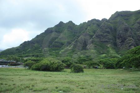White green mountain.