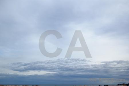 White javea europe spain cloud.