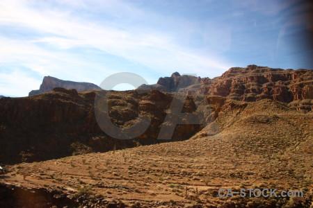 White landscape brown rock desert.