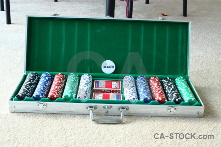 White poker green chip object.