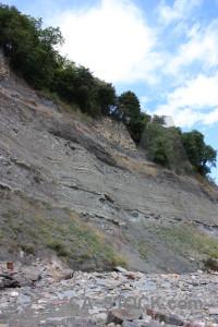 White rock cliff.