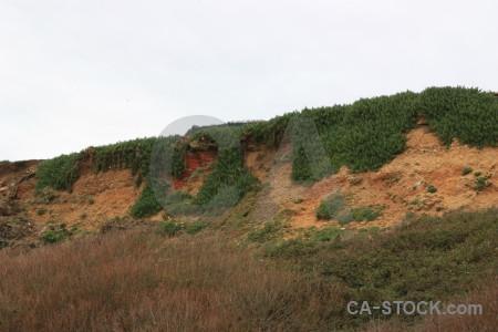 White rock landscape cliff green.