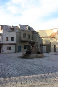 White street fountain.
