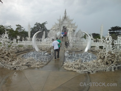 White temple thailand tusk asia tree.