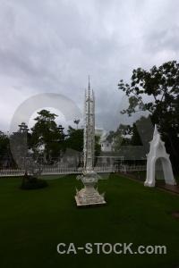 White temple tree asia cloud ornate.