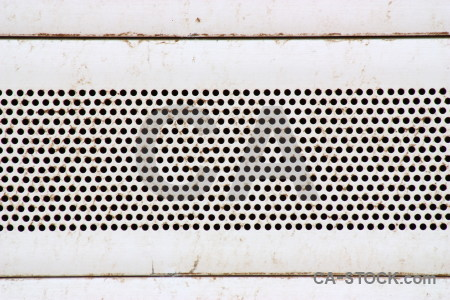 White texture metal grid grill.