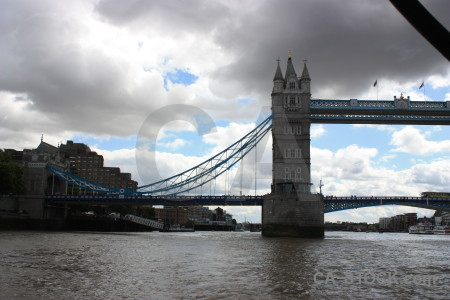 White tower bridge building.