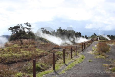 White volcanic smoke landscape.