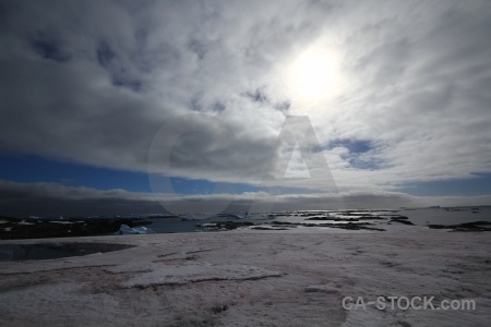 Wilhelm archipelago ice sky sea antarctica cruise.