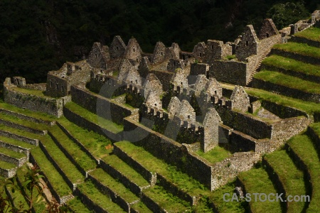 Winay wayna south america ruin grass andes.