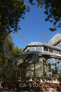 Window building glass sky crystal palace.
