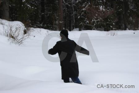 Winter snow person white.