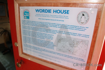 Wordie house day 8 antarctica cruise sign historic.