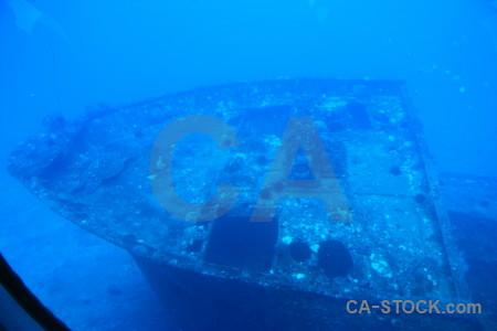 Wreck blue underwater.