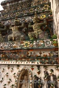 Yaksha building bangkok buddhism southeast asia.